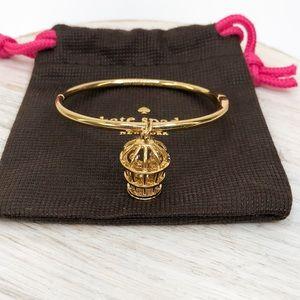 Kate Spade Gold Tone Birdcage Charm Bracelet